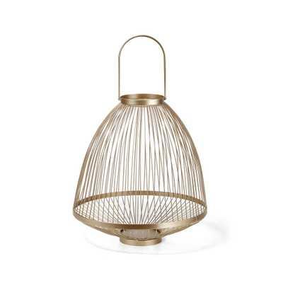 Imax Sofia Small Gold Candle Lantern - Home Depot