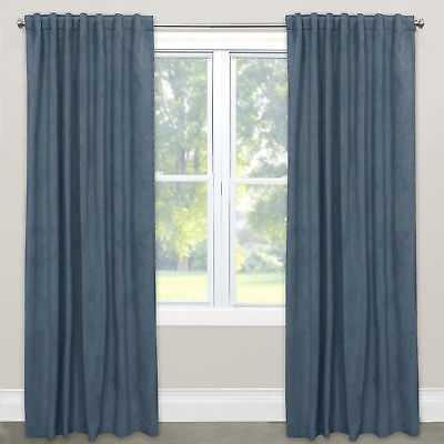 "Ivy Bronx Sellers Solid Rod Pocket Single Curtain Panel: Velvet Ocean - 50"" W x 120"" L - eBay"