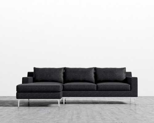 Sophia Sectional - Charcoal Right-hand-facing Matte Black - Sophia - Rove Concepts