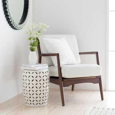 Araceli Ivory Garden Stool - Home Depot