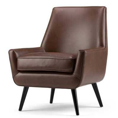 Warhol Saddle Brown Air Leather Accent Chair - Home Depot