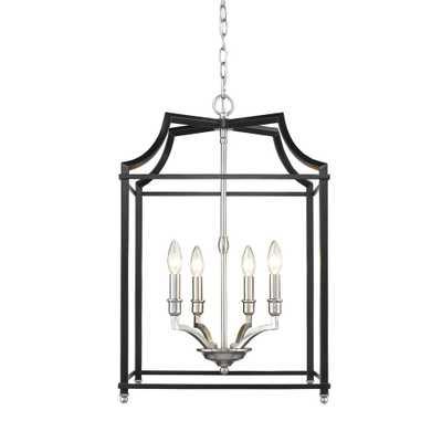 Golden Lighting Leighton 4-Light Pewter and Black Pendant Light - Home Depot