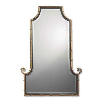 Arch Gold Iron Framed Mirror - Wayfair