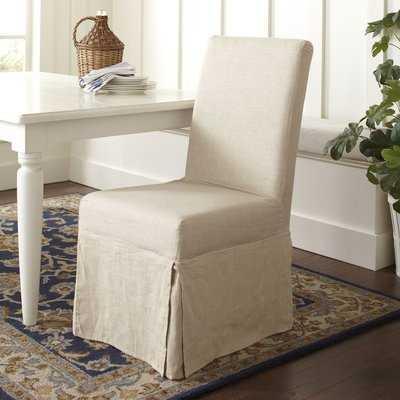 Alcester Linen Upholstered Side chair in Beige- set of 2 - Birch Lane