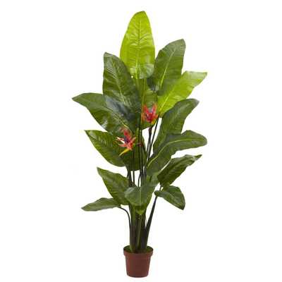 58 in. Real Touch Bird of Paradise Plant - Home Depot