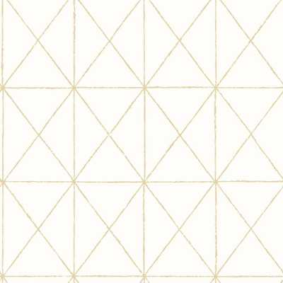 Intersection Gold Geometric Wallpaper Sample - Home Depot