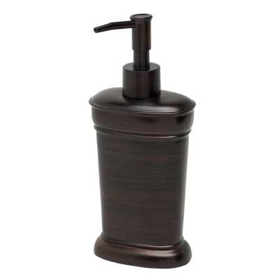 India Ink Marion Countertop Lotion Dispenser in Oil Rubbed Bronze - Home Depot