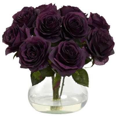 Rose Arrangement with Vase - Home Depot
