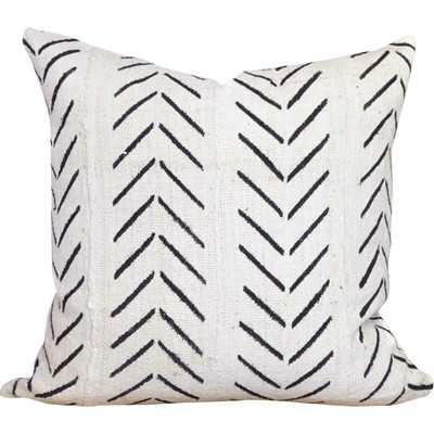 Chevron Arrow Print African Mud Cloth Pillow Cover - Birch Lane