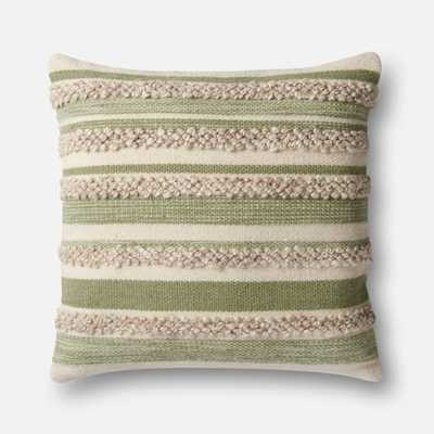 PILLOWS - SAGE / IVORY - Magnolia Home by Joana Gaines Crafted by Loloi Rugs