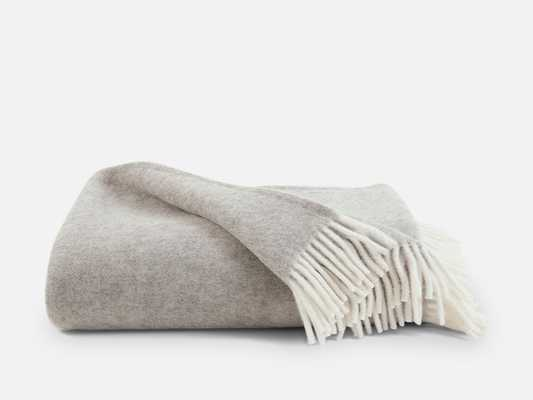 Throw Blanket - Pure Wool in Greige - Brooklinen