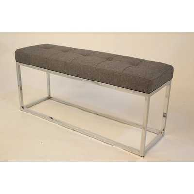 Hwang Modern Narrow Upholstered Bench - Wayfair