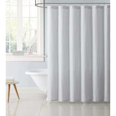 72 in. Stripe Gray Shower Curtain - Home Depot