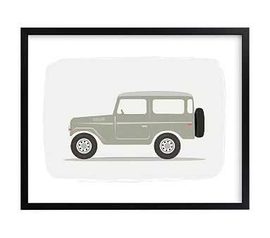 Vintage Land Cruiser, Wall Art by Minted(R), 16x20, Black - Pottery Barn Kids