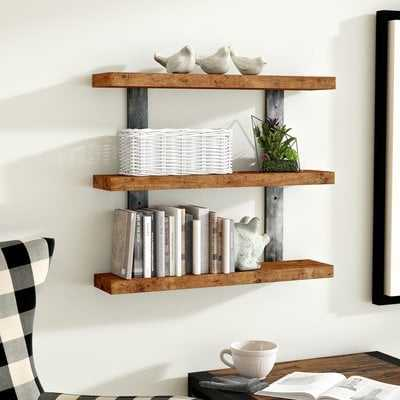 Pratik Industrial 3-Tier Wall Shelf - Wayfair