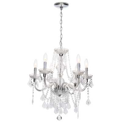 Hampton Bay Maria Theresa 6-Light Chrome and Clear Acrylic Chandelier - Home Depot