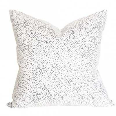 Confetti Cream & Black - 20x20 pillow cover / pattern on front, solid on back / regular knife edges (no piping) - Arianna Belle