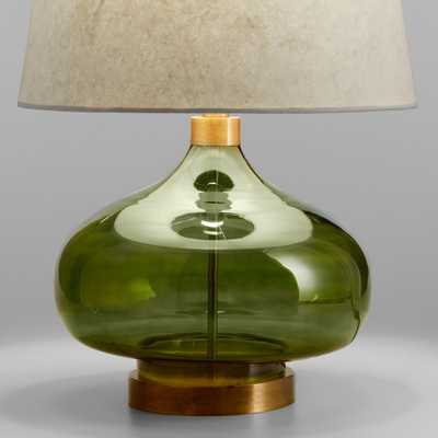Green Glass Teardrop Halsey Table Lamp Base by World Market - World Market/Cost Plus