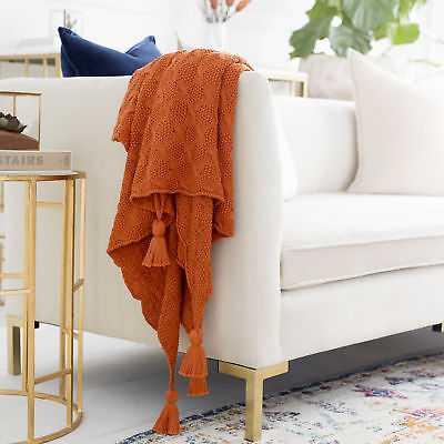 Red Barrel Studio Jasmine Cotton Throw: Orange - eBay