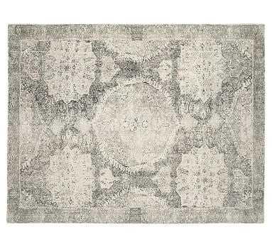 Barret Printed Rug, 9x12', Gray - Pottery Barn