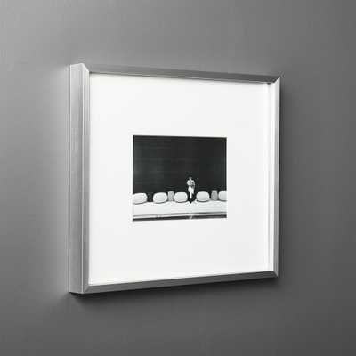 Gallery Silver Frame with White Mat 5x7 - CB2