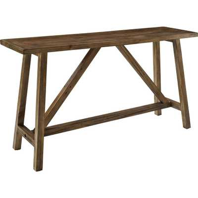 Wyngate Rustic Console Table, Rustic Finish - Home Depot
