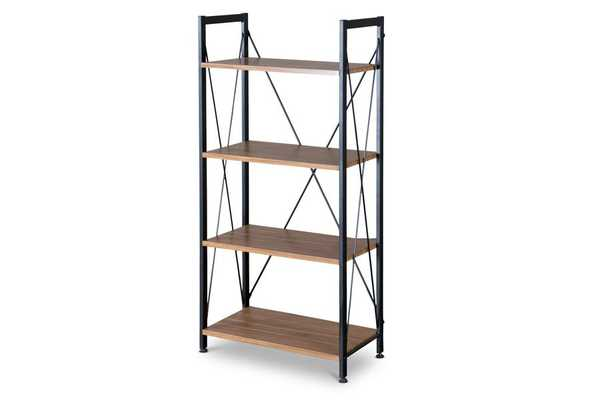 Baxton Studio New Semester Bookshelf - Lark Interiors