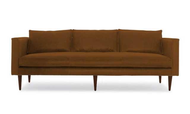 Brown Serena Mid Century Modern Leather Sofa - Brompton Classic - Mocha - Joybird