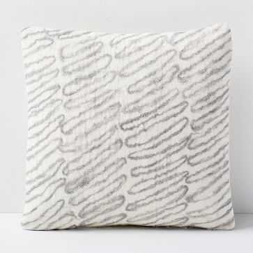 Felt Scribble Pillow Cover, Frost Gray - West Elm