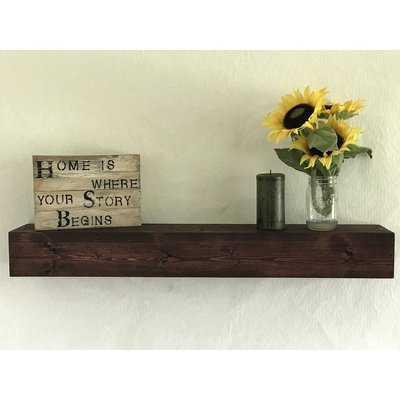 Reclaimed Wood Floating Shelf - Wayfair