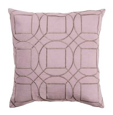 Goldie Hollywood Regency Linen Down Pink Pillow - 22x22 - Kathy Kuo Home