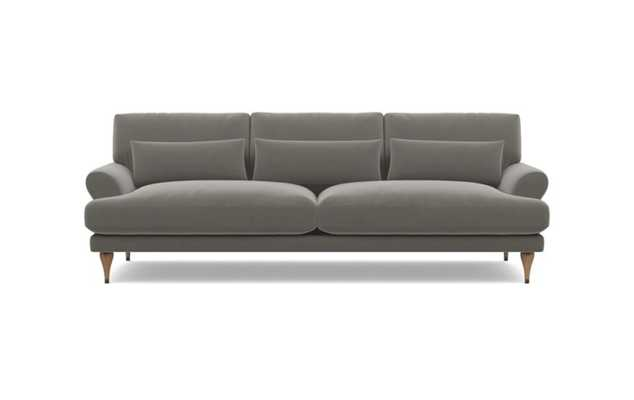 Maxwell Sofa with Greige Fabric and White Oak with Antique Cap legs - Interior Define