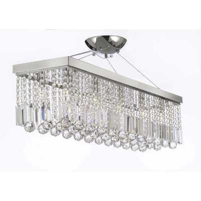 Charles Serouya & Son Modern 10-Light Chrome and Crystal Chandelier Pendant - Home Depot
