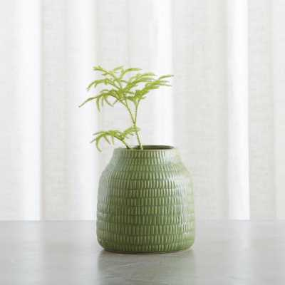 "Verde 6"" Green Vase - Crate and Barrel"