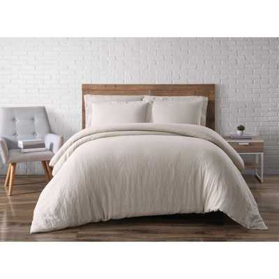 3-Piece Natural King Duvet Cover Set - Home Depot