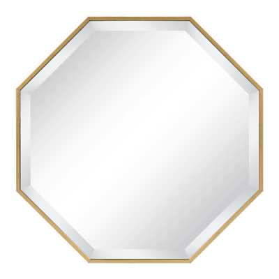 Rhodes Octagon Gold Mirror - Home Depot