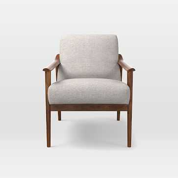 Midcentury Show Wood Upholstered Chair, Twill, Wheat - West Elm