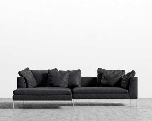 Hugo Sectional - Charcoal Left-hand-facing Rose Gold - Hugo - Rove Concepts