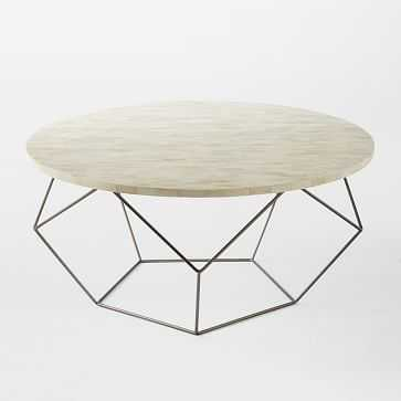 "Origami Oversized Coffee Table, 34""x18"" - West Elm"
