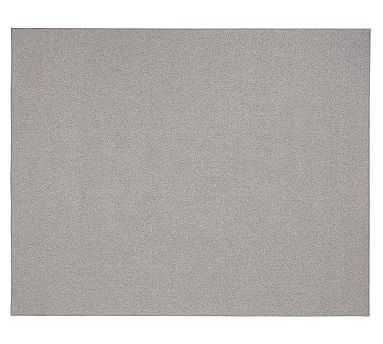 Casselbarry Custom Diamond Texture Wool Rug, Gray, 8 x 7' - Pottery Barn