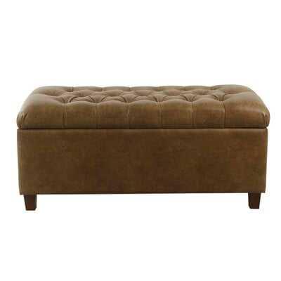 Tobin Faux Leather Storage Bench - Wayfair