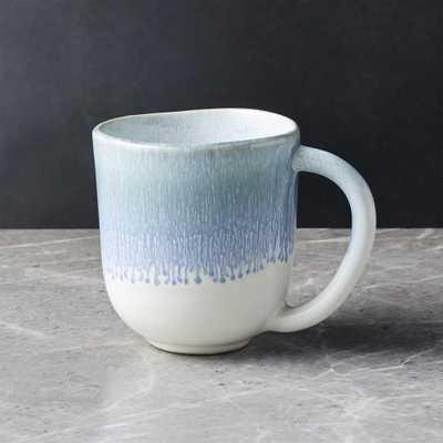 Caspian Blue Reactive Glaze Mug - Crate and Barrel