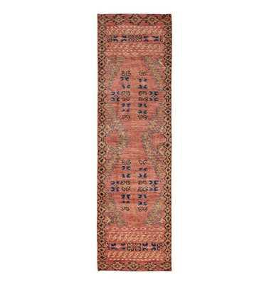 Adair Handknotted Rug - Rust 2.5'x9' - Rejuvenation