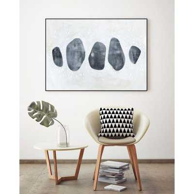 """40"""" x 30"""". """"Stone Collection I"""" by Emma Scarvey Framed Wall Art - Home Depot"""