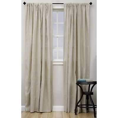 Classic Linen Blend Curtain Panel: Curtains - 96 Inches - eBay