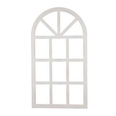 "Glitzhome 36''H X 20""L Wooden Window Frame, White - Home Depot"
