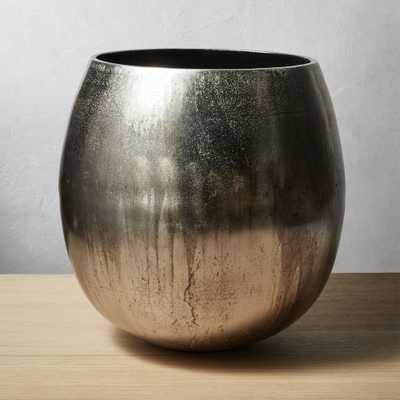Rough Cast Small Silver Planter - CB2