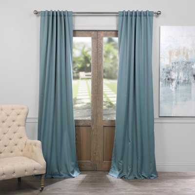 Exclusive Fabrics & Furnishings Semi-Opaque Dragonfly Teal Blackout Curtain - 50 in. W x 96 in. L (Panel), Dragonfly Blue - Home Depot