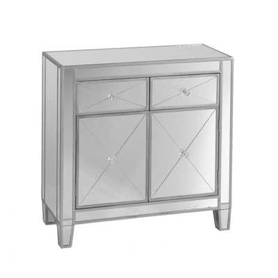 Vernon Mirrored Storage Accent Cabinet - Home Depot