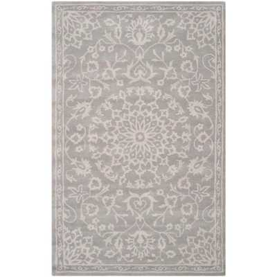 Bella Grey/Silver 8 ft. x 10 ft. Area Rug, Gray/Silver - Home Depot